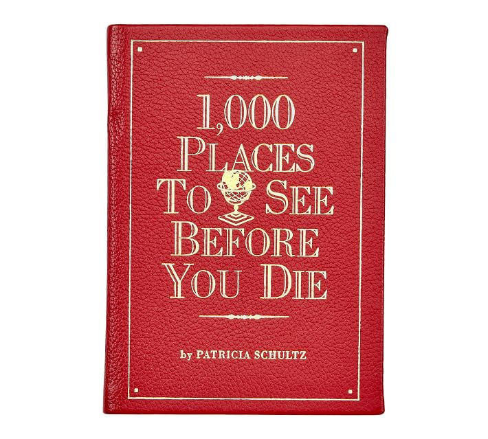 1000 Places to See Before You Die Leather Book from Pottery Barn