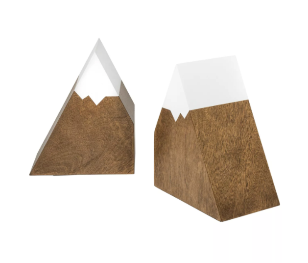 Mountain Peak Bookends from Target