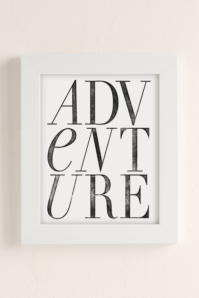 Chloe Vaux 'Adventure' Art Print from Urban Outfitters
