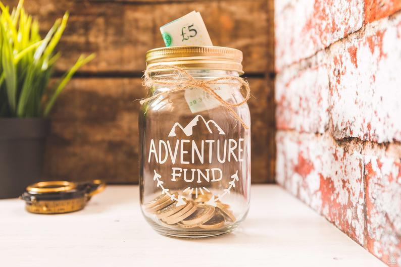 'Adventure Fund' jar from Etsy