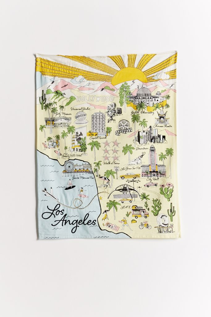 Landmark Souvenir Embroidered Tapestry from Urban Outfitters