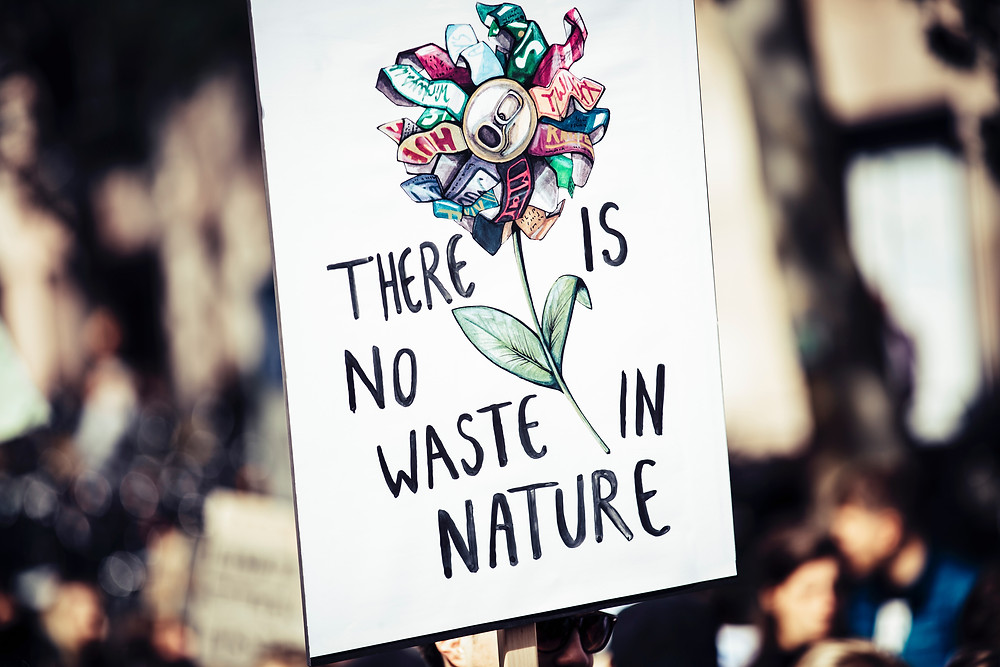 there is now waste in nature sign