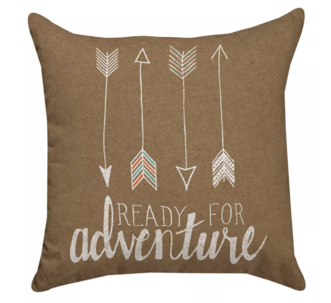 'Ready for Adventure' throw pillow from Target