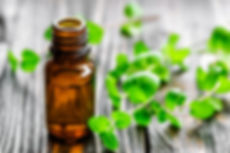 Remedy bottle and mint