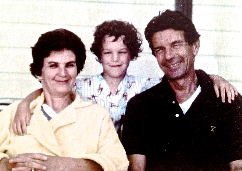 Cartier with his parents circa 1975