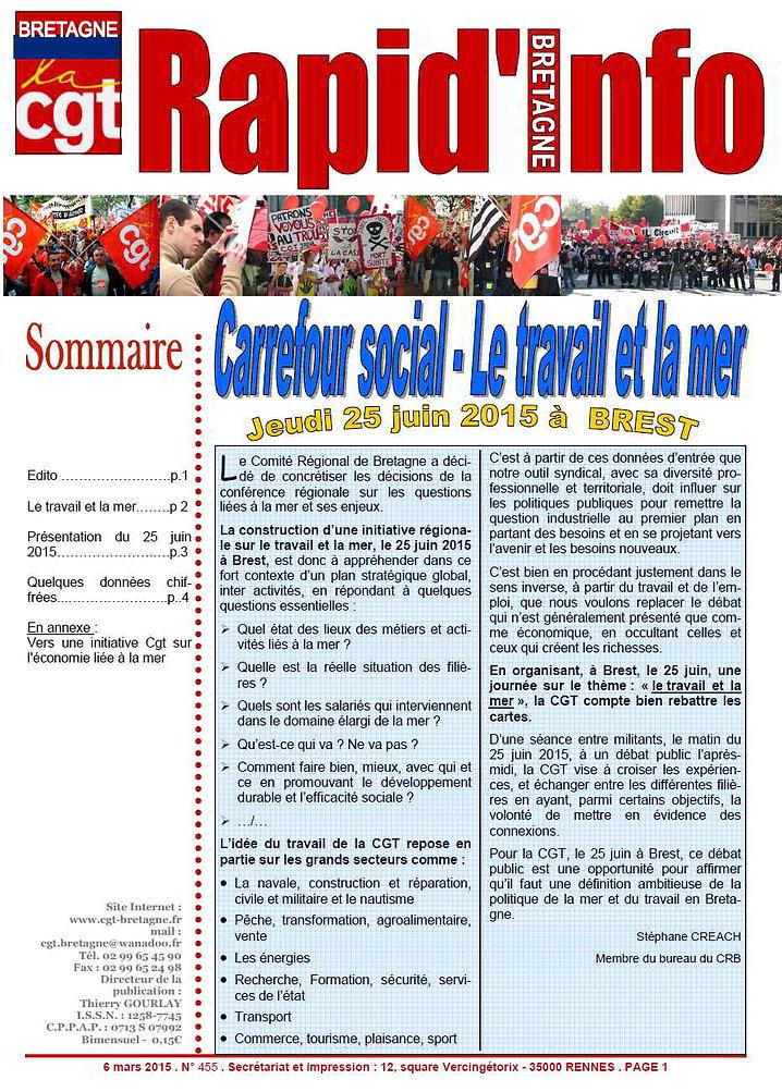 carrefour social le travail et la mer Brest