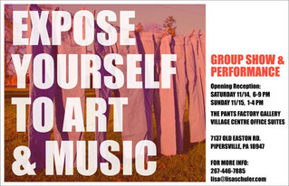 EXPOSE YOURSELF TO ART - GROUP SHOW OPENING RECEPTION SAT 11/14