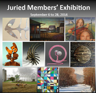 JURIED MEMBERS' EXHIBITION AT THE NEW HOPE ARTS ~ SATURDAY SEPT 6TH.