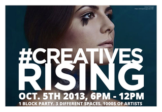 #CREATIVESRISING ART EVENT IN LONG ISLAND CITY