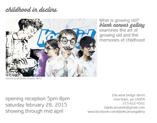 I'M HAPPY TO HAVE MY WORK INCLUDED IN THE BLANK CANVAS GALLERY SHOW 'CHILDHOOD IN DECLINE.&#