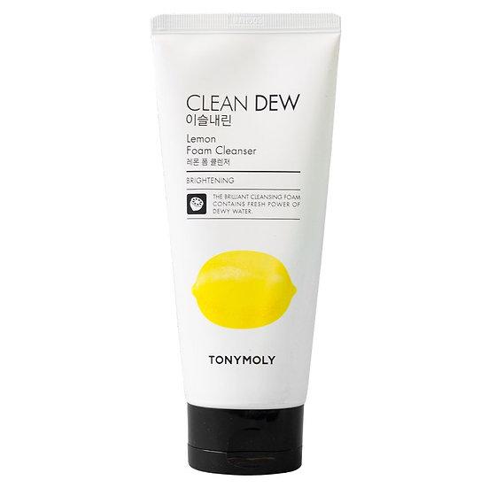 Очищающая пенка для умывания с экстрактом лимона Tony Moly Clean Dew