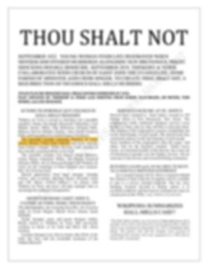 Play Bill--Thou Shalt Not-Thinkery&Verse