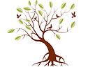 Arbre-thérapie avec oiseaux qui s'envolent