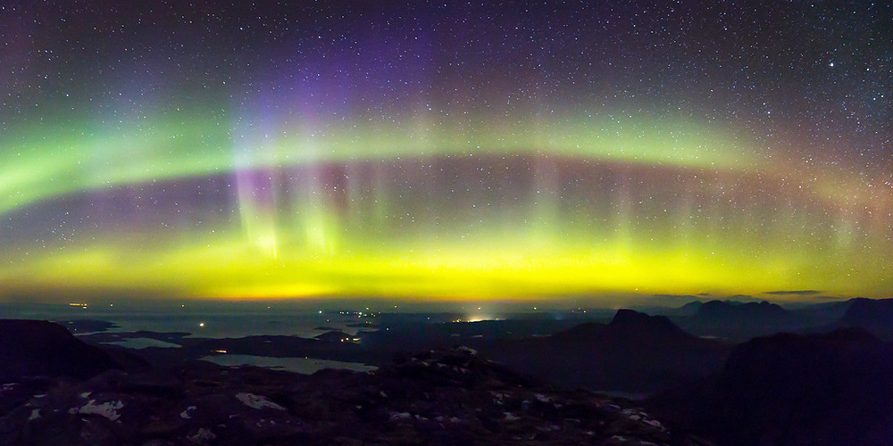 Aurora Borealis over Assynt.