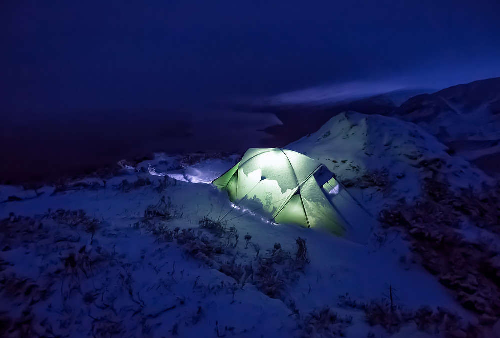 Wild camp on Ben A'an.