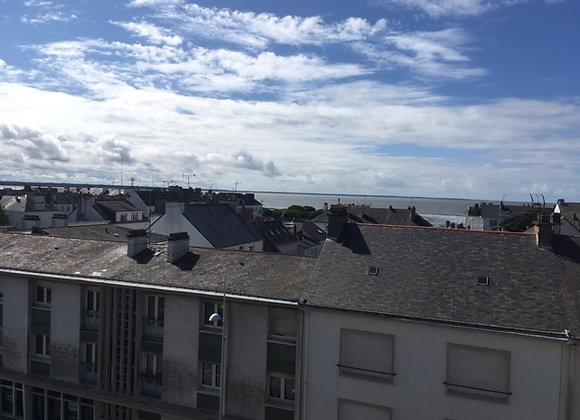 BAISSE DE PRIX !  ST-NAZAIRE  - APPARTEMENT  T3  VUE MER