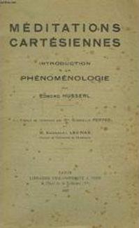 Husserl – Cartesian Meditations