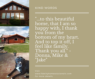kind words for Fidelity Home Solutions