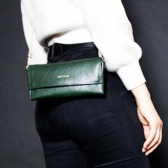Deep green wallet 4in1