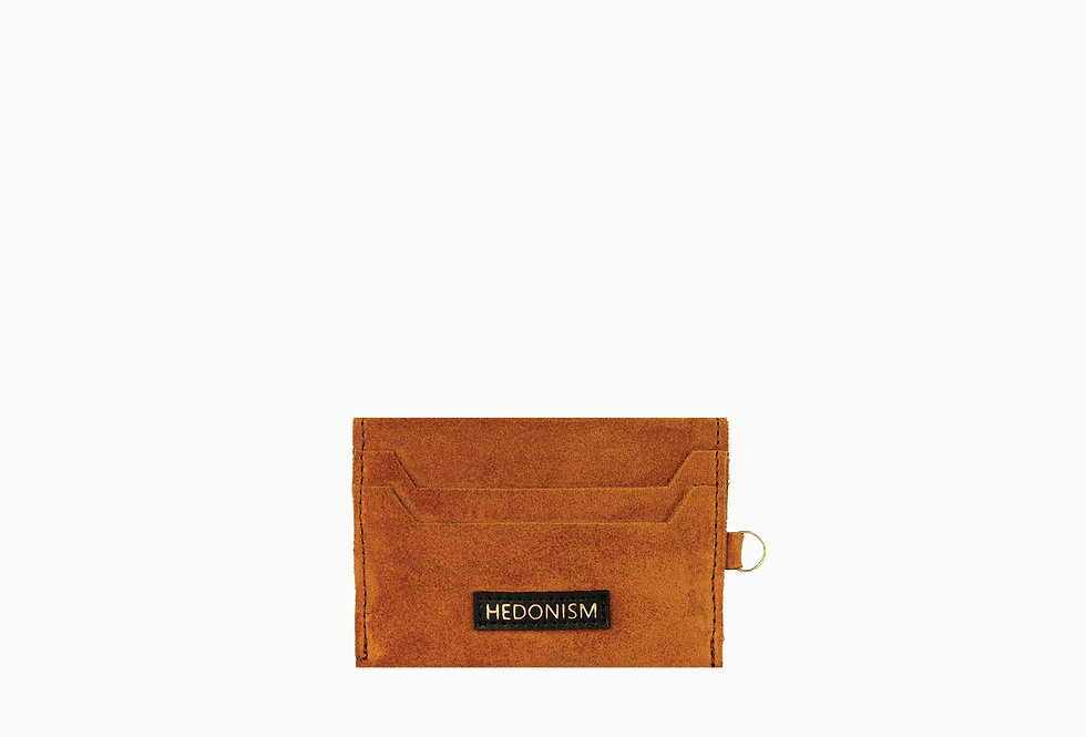 Brown suede cardholder, limited edition