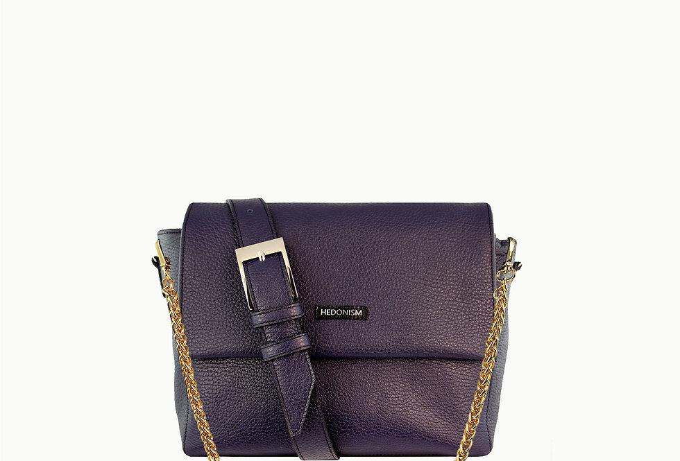 """Pat""purple leather bag"
