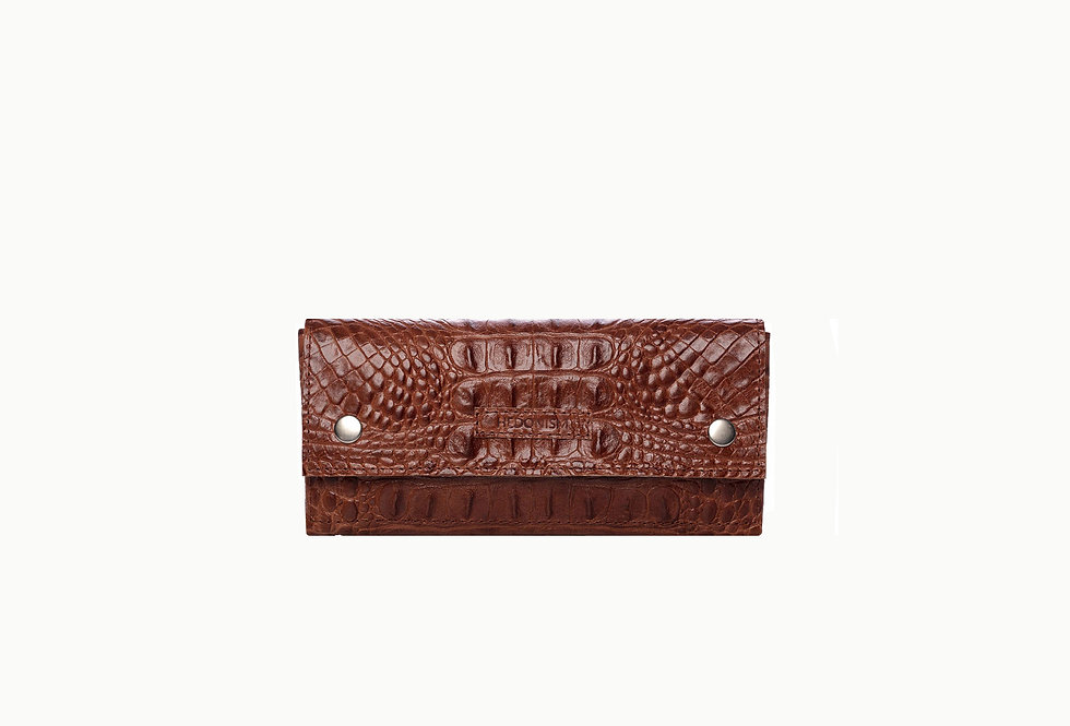 """""""Crocodile back in town"""" 4in1 leather wallet, limited edition"""