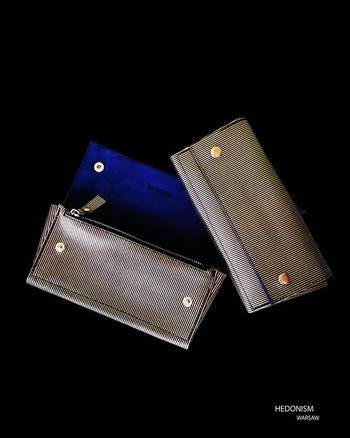 4in1 gold striped leather wallet.