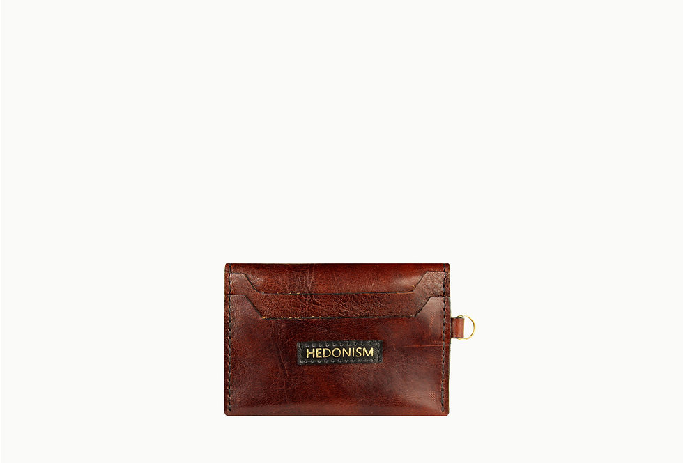 Chocolate brown cardholder, limited edition