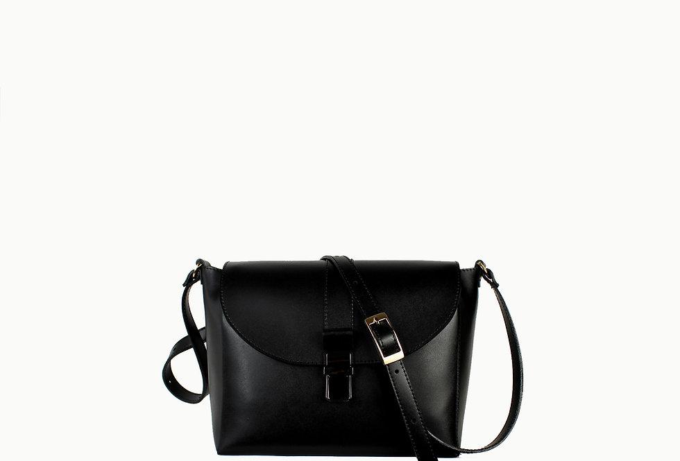 """Gigi"" black satin leather"