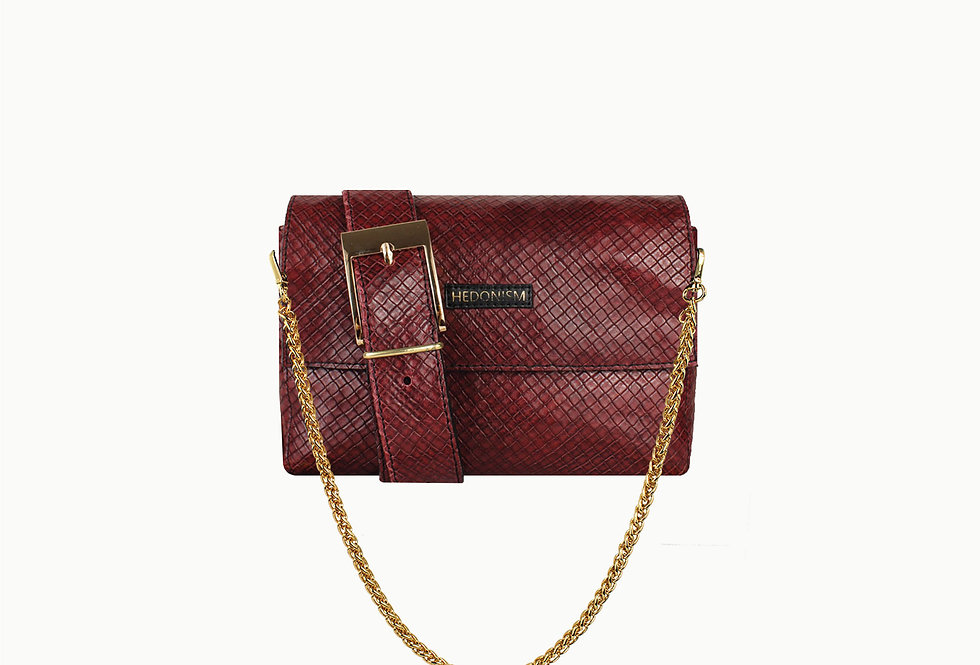 """""""Squery"""" burgundy brown bag, limited edition"""