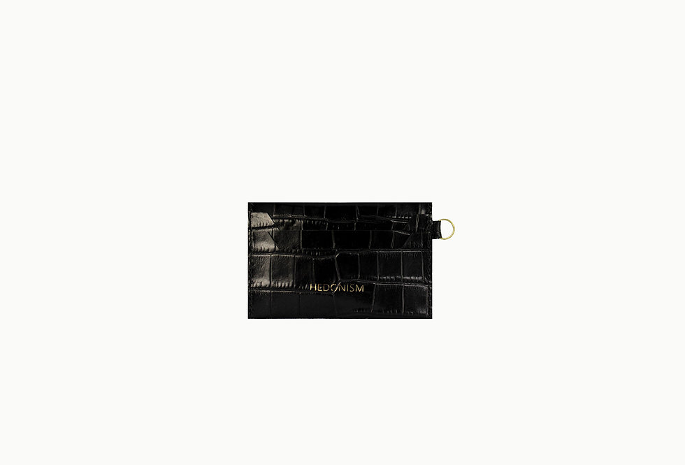 """""""Crocodile back in town"""" cardholder, glossy leather"""