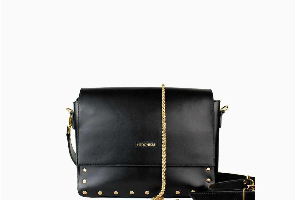 """Pat""black studded bag"
