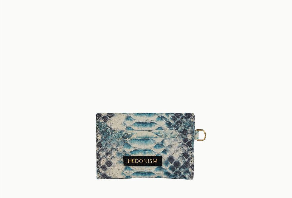 Blue snake effect cardholder, limited edition