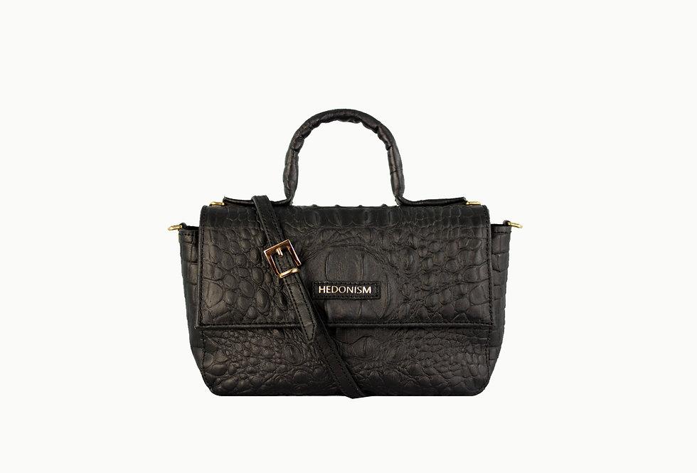 "Mini ""BB"" top handle bag""Crocodile back in town"""