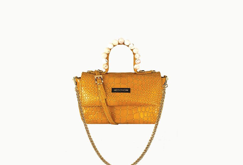 "Mini ""BB"" top handle bag, embellished with stones"