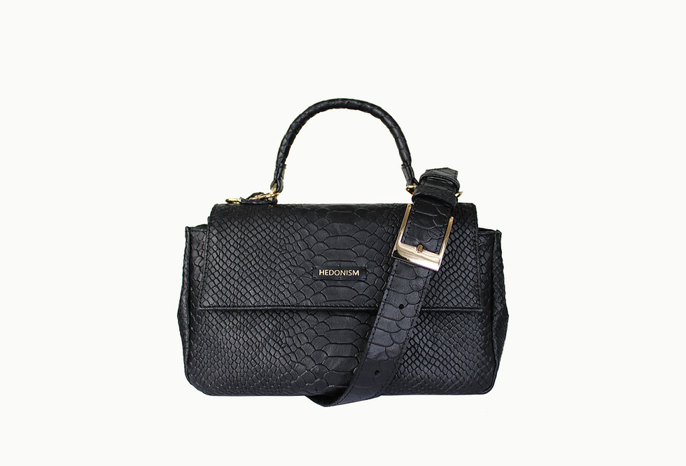 """Mini """"Audrey"""" top handle bag """"Snake back in town"""""""