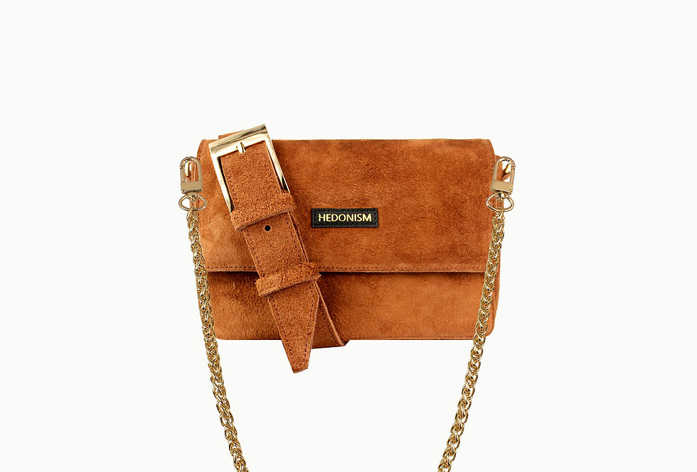 """""""Squery"""" suede brown bag, limited edition"""
