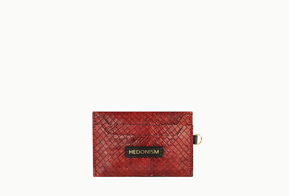 Burgundy brown cardholder, limited edition