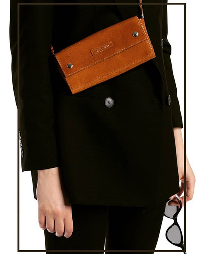 Brown crock effect leather 4in1 wallet.