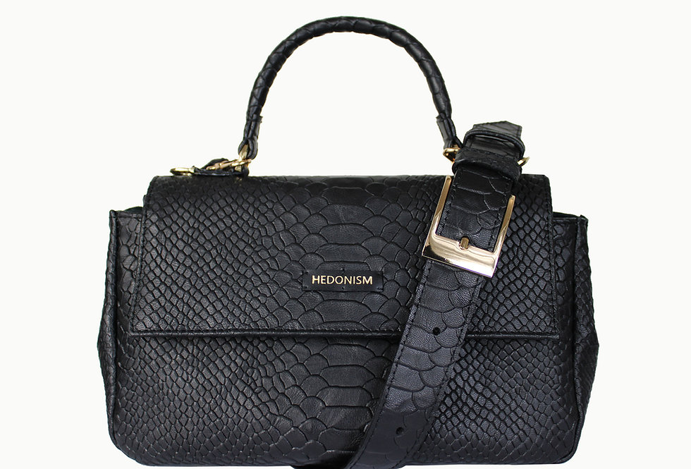 """""""Audrey"""" top handle bag M+ """"Snake back in town"""""""