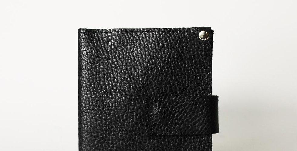Basic light wallet, black leather