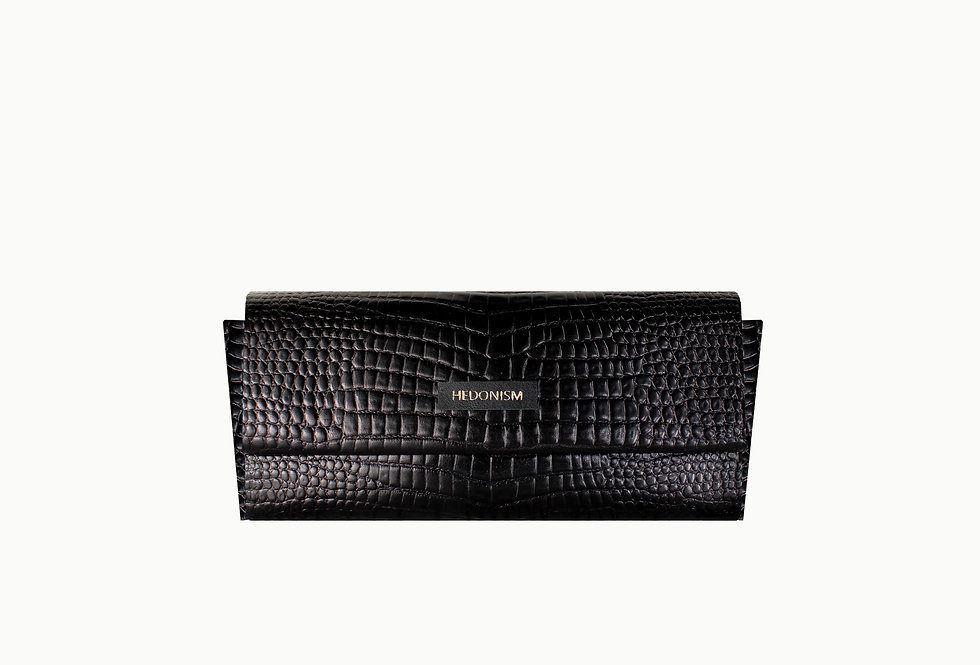 """Crocodile back in town"" 4in1 wallet, glossy leather"