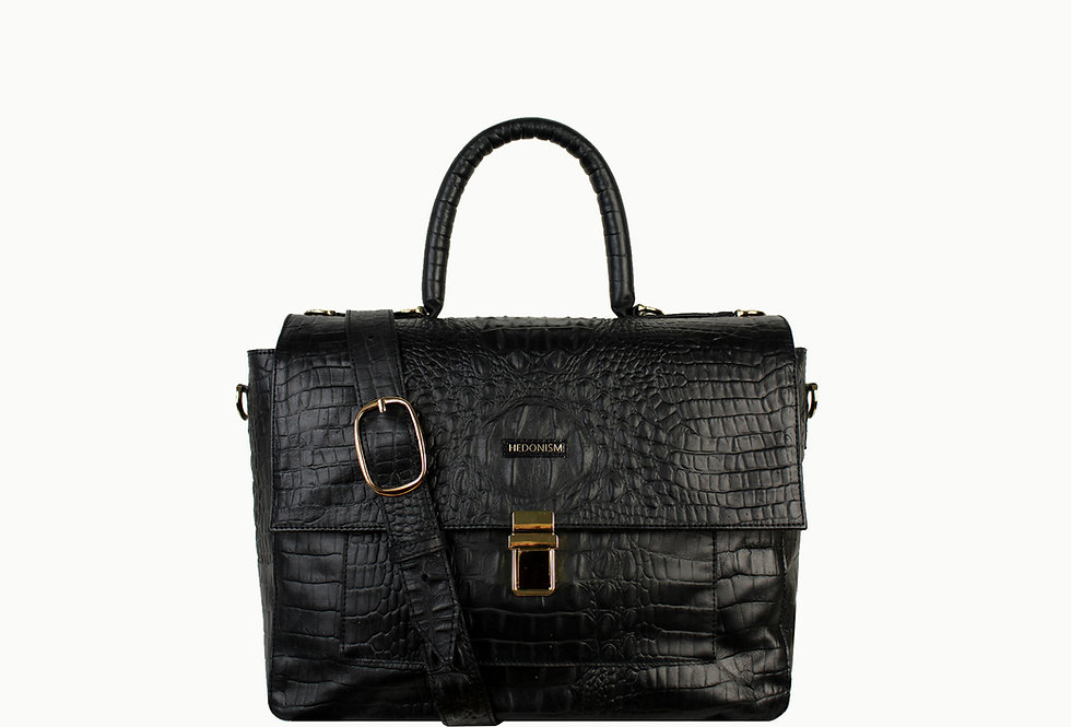 """Vera"" top handle bag, soft leather"