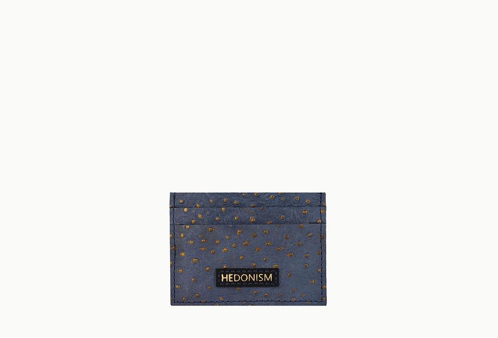 Blue ostrich effect cardholder, limited edition