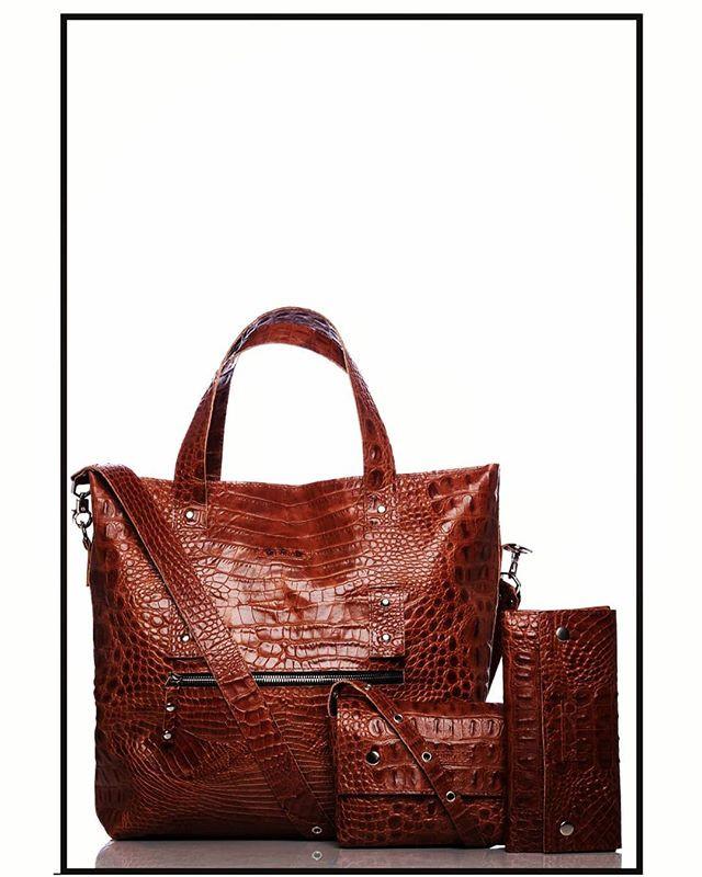 Crocodile effect leather family.