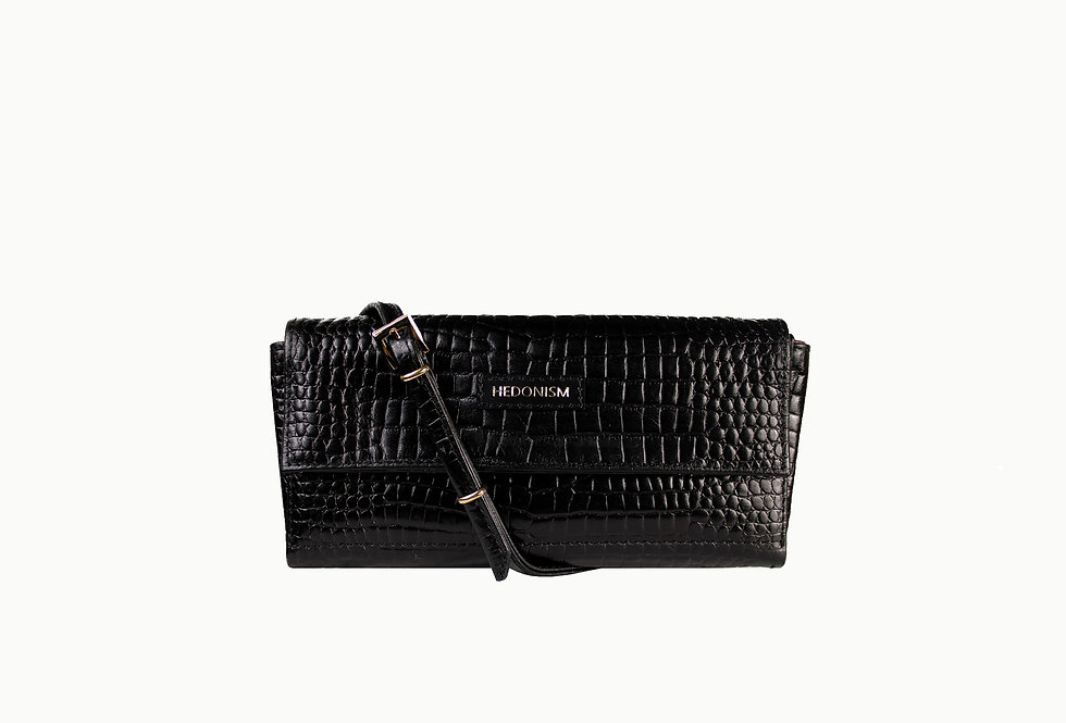 """""""Crocodile back in town"""" 4in1 wallet, glossy leather"""