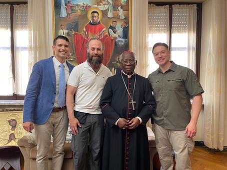 We Filmed with Cardinal Arinze!