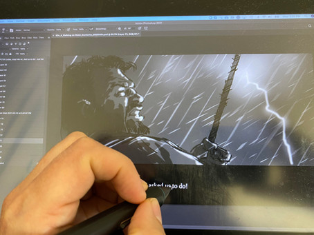 We start to Storyboard for the Live action scene!