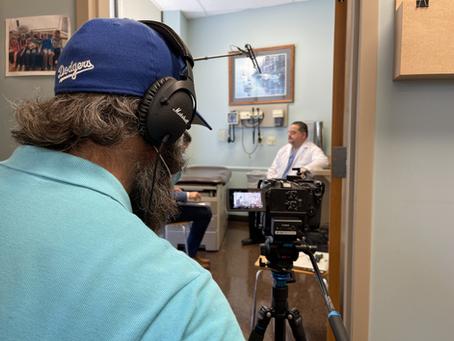Filming Dr. Carlos Parellada