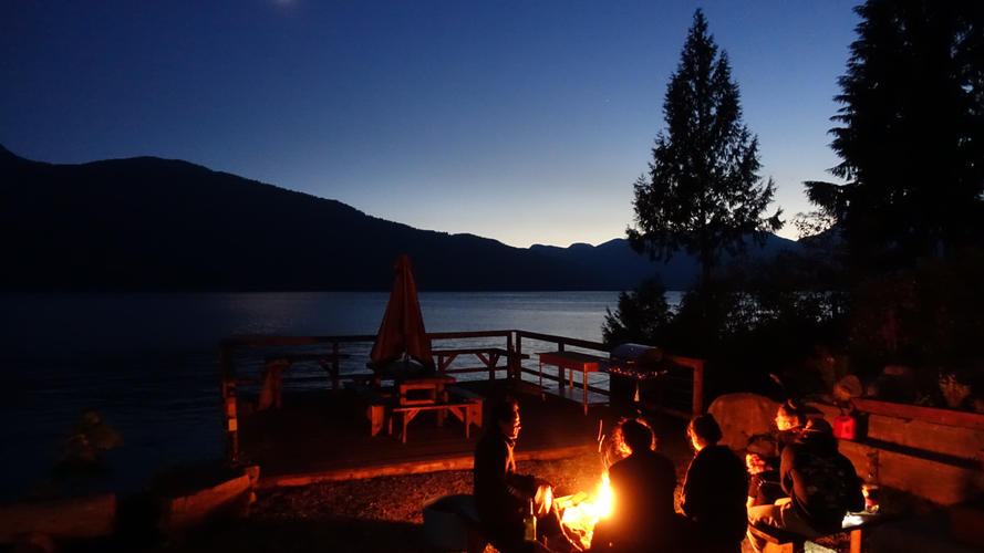 Campfire at Klahoose Resort